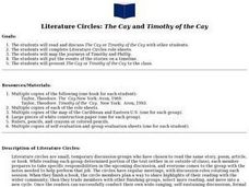 Literature Circles: The Cay and Timothy of the Cay Lesson Plan