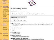 Literature Exploration Lesson Plan