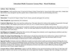 Literature/Math Crossover Lesson Plan - Word Problems Lesson Plan