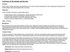 Literature of the Islands and the Sea Lesson Plan