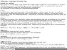 Literature - Overview - May Lesson Plan