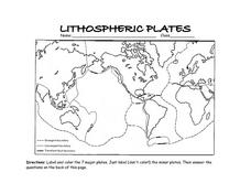 lithospheric plates 7th 9th grade worksheet lesson planet. Black Bedroom Furniture Sets. Home Design Ideas