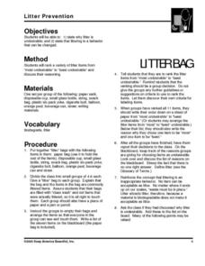 Litter Prevention Lesson Plan