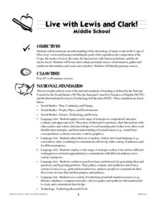 Live with Lewis and Clark! Lesson Plan