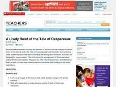 Lively Read of the Tale of Despereaux Lesson Plan