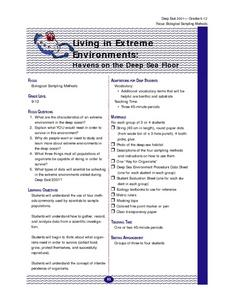 Living in Extreme Environments: Havens on the Deep Sea Floor Lesson Plan