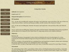 Living In The Colonies Lesson Plan
