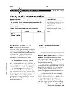 Living with Extreme Weather Worksheet