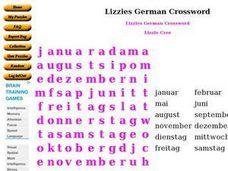 Lizzie's German Crossword Worksheet