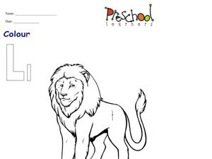 Ll Is For Lion Worksheet