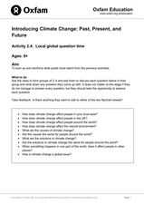 Local Global Question Time- Climate Change Lesson Plan