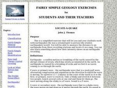 Locate-a-quake Lesson Plan