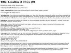 Location of Cities 201 Lesson Plan