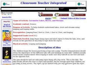 Locomotor Lakes, Rivers, and Streams Lesson Plan