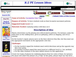 Locomotor Line Tag Lesson Plan