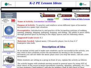 Locomotor Locomotion Lesson Plan