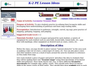 Locomotor Treasure Hunt Lesson Plan