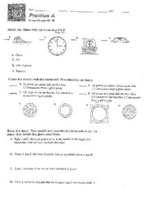 Locus of a Point Worksheet