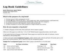 Log Book Guidelines Lesson Plan