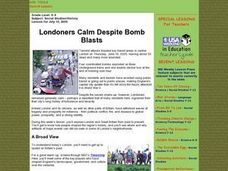 Londoners Calm Despite Bomb Blasts Lesson Plan