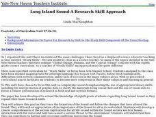 Long Island Sound - A Research Skill Approach Lesson Plan