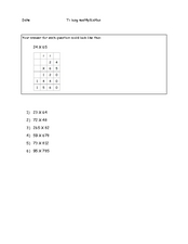 Long Multiplication Worksheet