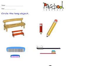 Long Objects Worksheet