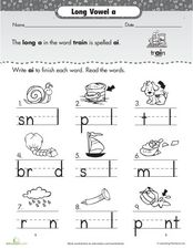 Long Vowel: A Worksheet