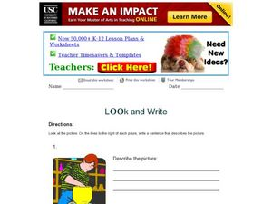 Look and Write: Describe Pictures Worksheet
