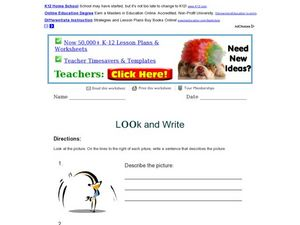 Look and Write: Describing Pictures Worksheet