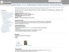Looking At French Decorative Arts:  Makers of Nothing, Sellers of Everything Lesson Plan