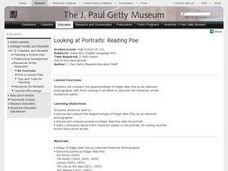 Looking at Portraits: Reading Poe Lesson Plan