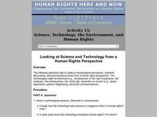 Looking At Science And Technology From a Human Rights Perspective Lesson Plan