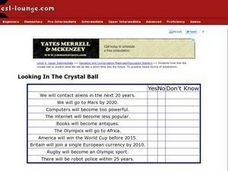 Looking In the Crystal Ball Worksheet