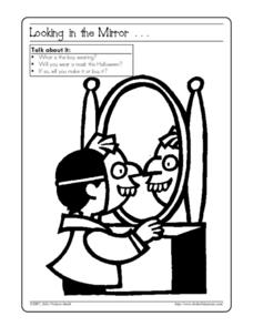 Looking in the Mirror...Halloween Activity Worksheet
