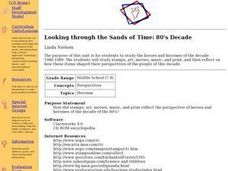 Looking through the Sands of Time: 80's Decade Lesson Plan