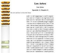Los Artes Worksheet