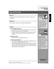 Lost and Found Lesson Plan