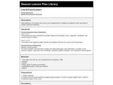Lost & Found Letters Lesson Plan