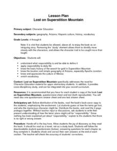 Lost on Superstition Mountain Lesson Plan