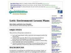 Lotic Environment Lesson Plan