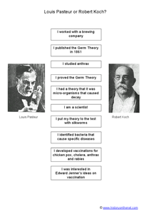 Louis Pasteur or Robert Koch? Worksheet
