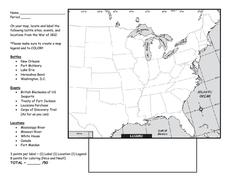 Printables Louisiana Purchase Map Worksheet louisiana purchase map worksheet imperialdesignstudio amp war of 1812 activity worksheet