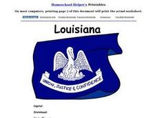 Louisiana Worksheet Worksheet