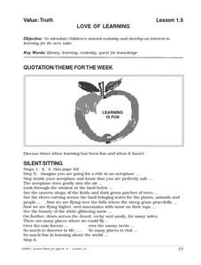 Love of Learning Lesson Plan