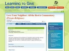 Love Your Neighbor: All The Rest is Commentary Lesson Plan