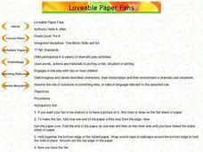 Loveable Paper Fans Lesson Plan