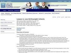 Low Birthweight Infants Lesson Plan