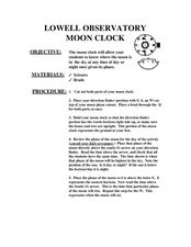 Lowell Observatory Moon Clock Lesson Plan