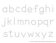 ... Case Alphabet Trace Pre-K - Kindergarten Worksheet | Lesson Planet